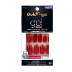 Kiss Gold Finger Gel Glam Nail Kit 24 Nails