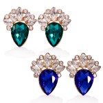 Faux Gem Clip on Earrings