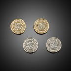 40 Stones Round Pave Earrings