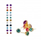 Assorted Multi Color 12 Pair Earrings Set