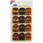 Goody 3 Colors Claw Clips 12Pcs