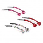 Shooting Flower Rhinestone Hair Clip