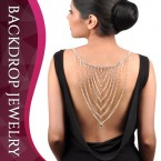Multi-Layer with Center Rhinestone Backdrop Necklace