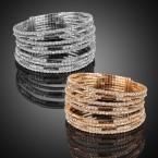 Multi-Layer Rhinestone Cuff Bracelet
