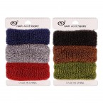 Soft Plush Headband Ponytail Holders 3Pcs