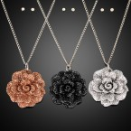 Flower Chain Necklace and Earrings