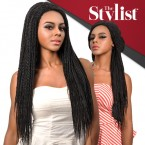 The Stylist Synthetic Braided Lace Front Wig Hand-Tied Curved Part Senegal Twist Braid