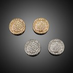 Rhinestone Round Pave Earrings