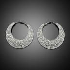 Hinged Hoop Bejeweled Earrings