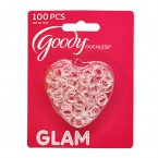 Goody Ouchless Glam Clear Mini Elastics 100Pcs