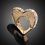 Heart Shaped with Rhinestone Ring