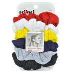 SCUNCI Textured Knits Scrunchies 6Pcs