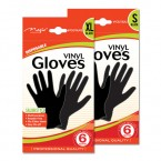 Disposable Vinyl Gloves 6 Gloves