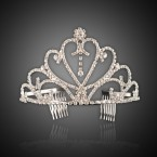 Rhinestone Heart Tiara Headband