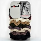 SCUNCI Textured Knits Scrunchies 12Pcs