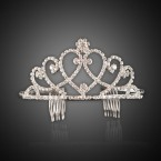 Overlapping Small Heart Tiara Headband