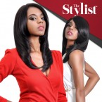 The Stylist Synthetic Lace Front Wig Hand-Tied Curved Part Absolutely Sleek