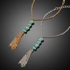Pointed Stone Fringe Bracelet