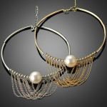 Fringed Pearl Choker Necklace
