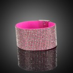 Rhinestone with Magnet Flannel Bracelet