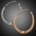 One Hoop Rhinestone Chain Bracelet