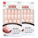 Kiss Salon Acrylic Nude French 28 Nails