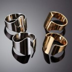 Uneven Cuffed Midi Ring Set