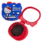 Hello Kitty Pop-Up Hair Brush & Compact Mirror