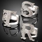 Rhinestone Initial Bracelet