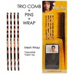 Hype Hair Trio Comb & Pins & Wrap