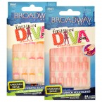 Broadway Fashion Diva Mismatch Manicure 24 Nail Kit