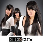 "Studio Cut by Pros Synthetic Hair Wig 24"" Zen Straight Cut"
