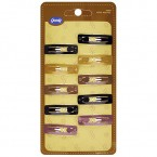 Goody 5 Metal Colors Snap Clips 10Pcs