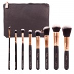 Profusion Deluxe 8 Pcs Make Up Brush Set & Cosmetic Bag