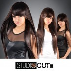 "Studio Cut by Pros Synthetic Hair Wig 28"" Zen Straight Cut"