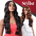The Stylist Synthetic Lace Front Wig Hand-Tied Curved Part Dream Wave