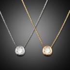 Small Rhinestone Charm Necklace