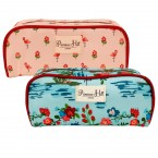 Allegro Primrose Hill Flamingo & Flowers Makeup Bag