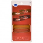 Goody Shades of Red 8 Ponytail Holders 4 Snap Clips