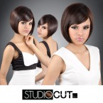 Studio Cut by Pros Synthetic Hair Wig Angled Razor Cut
