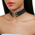 Simple Wide Black Choker