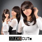 "Studio Cut by Pros Synthetic Hair Wig 18"" Feather Razor Cut"