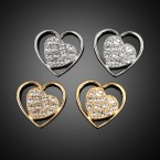 Heart & Rhinestone Earrings