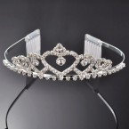 Heart Rhinestone Tiara Crown Headband