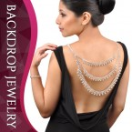 3 Layer with Point Rhinestone 3 Way Casual & Evening Backdrop Necklace