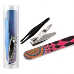 Trim Nail Care Set Nail Clipper & Nail File & Tweezers