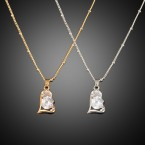 Heart with Rhinestone Necklace
