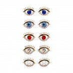 Cutout Eye Stud Earrings