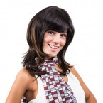 Anytime Human Hair Clip-On Bob Bang
