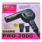 HOT & HOTTER Ceramic Pro-2000 Dryer with Extra Piks (Black)